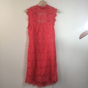 Free People Lace High Neck Open Back Dress